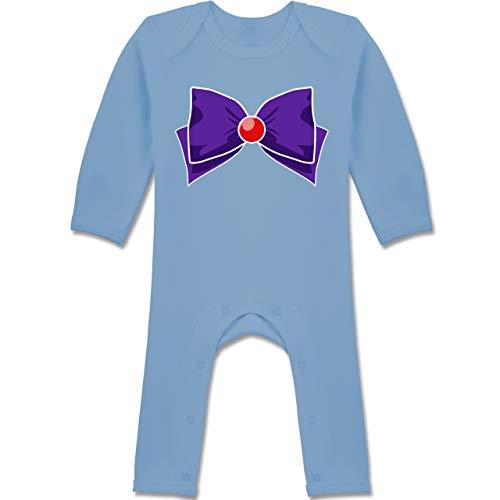 (Karneval und Fasching Baby - Superheld Manga Mars Kostüm - 12-18 Monate - Babyblau - BZ13 - Baby-Body Langarm für Jungen und Mädchen)