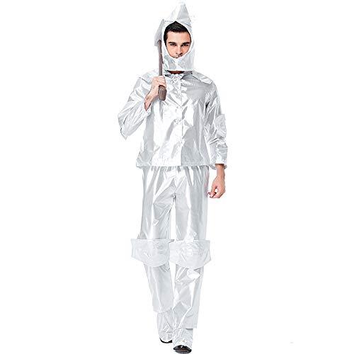 Halloween Kostüm Herren Erwachsene Unisex Karneval Fasching Der Zauberer Von Oz, Der Blechmann, Spielt Den König Der Smaragdstadt (Der Zauberer Von Oz Kostüm Frauen)