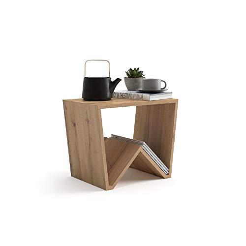 Mobilifiver tavolino da salotto emma, rovere rustico, 50 x 33 x 40 cm, nobilitato, made in italy, disponibile in vari colori