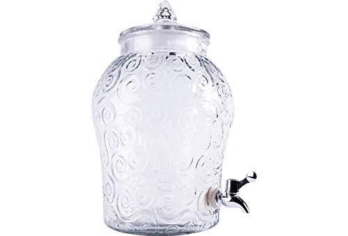 Glas-Fass mit Zapfhahn Kompott Fruchteis-Fass Saft-Fass 8 Liter - Saft Fässer