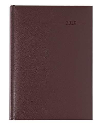 Agenda giornaliera 15x21 cm balacron rossa 2020