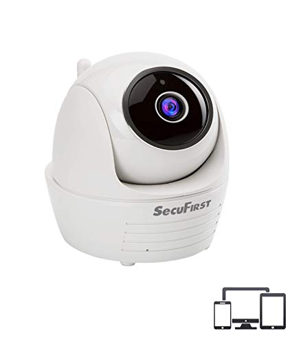 Secufirst PTZ IP Dome Kamera, überwachungskamera WLAN Indoor, Zoom, Zweiwege-Audio, IR-Nachtsicht, Bewegungsmelder, Micro SD-Karte zu 128 GB, kein ABO oder zusätzliche Kosten, ideal als Babymonitor