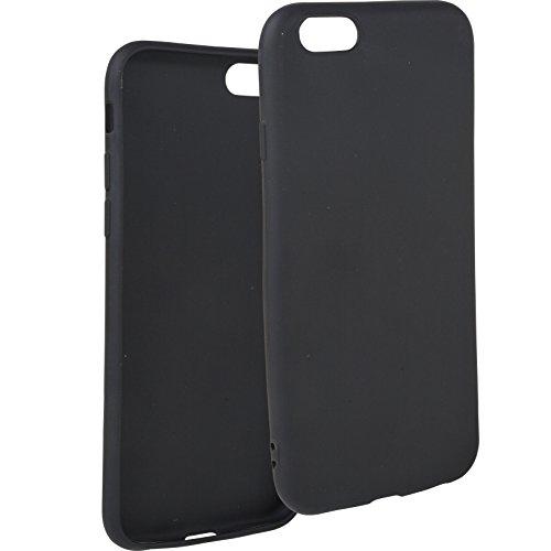Movoja Hülle Case kompatibel mit iPhone-6   schwarz matt   Soft Touch TPU   Perfekter Schutz   Schutzhülle Matt Cover - Schwarz - 606 Matt