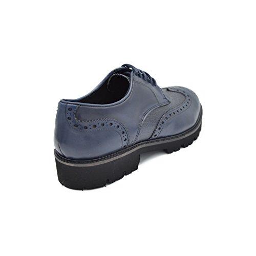 drudd  Eualph070chiaw1701, chaussures à lacets homme Bleu