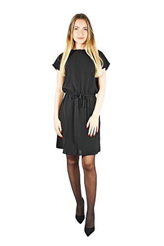 VERO MODA Damen VMSASHA Bali S/S Dress NOOS Kleid, Schwarz Black, 36 (Herstellergröße: S)