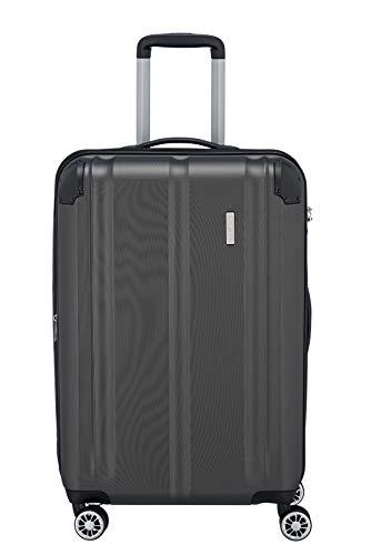 Travelite Leicht, flexibel, sicher: 'City'-Hartschalenkoffer für Urlaub und Business (auch mit Vortasche) Koffer, 68 cm, 78 Liter, Anthrazit