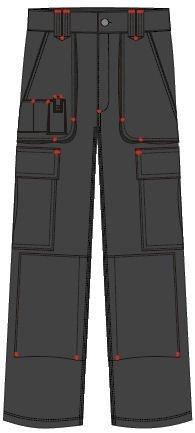 Lee Cooper Men's Cargo Trouser – schwarz -30W/29S - 2