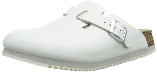 Birkenstock Classic Boston Leder, Unisex-Erwachsene Clogs, Weiß (Weiss), 39 EU