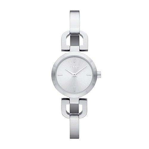 DKNY SUMMER 12 Women's Silver Steel Bracelet & Case Mineral Glass Watch ny8540