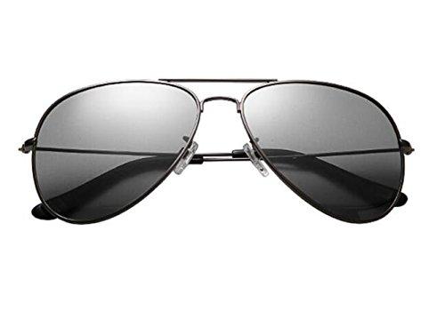 SHULING Sonnenbrille Offset Optische Sonnenbrille Uv Brillen Rückspiegel Männer Tragen Sonnenbrillen, Silver Box/Verfärbung