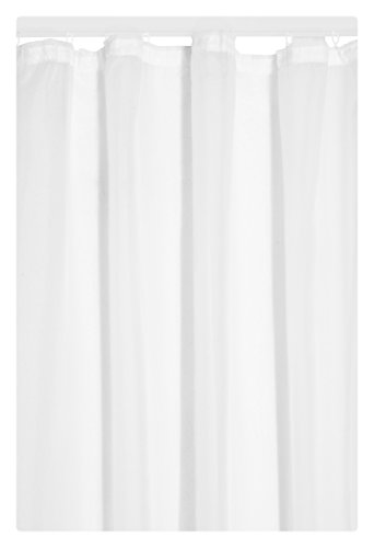Gardine Vorhang Transparent Kräuselband in Weiss 245x140 cm (Höhe x Breite) | Dekoschal Voile Uni - einfarbig | Universalband Fensterschal Store | Fertiggardine