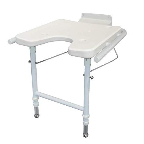 Preisvergleich Produktbild Trendmobil DUS Duschklappsitz zur Wandmontage,  höhenverstellbar,  weiß,  Sitzhöhe 49-59 cm,  Gewicht 3 kg,  Belastbarkeit 120 kg