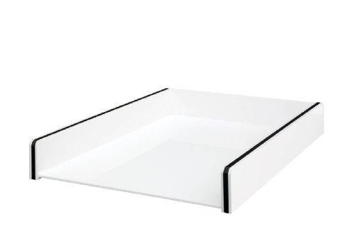 Wedo 608000 Acryl Briefablage Montego, weiß/schwarz
