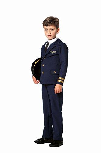 (Kinder Kostüm Flugpilot Pilot Pilotenkostüm Karneval Fasching Gr.128)