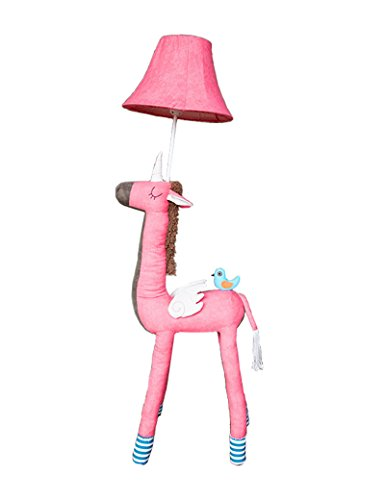Lampe sur pied en éclairage doux --- enfant Dessin animé Tissu Verticale lampadaire Créatif étude chambre chevet Chaleur lampadaire --- Lampe verticale au sol ( Couleur : 1 )