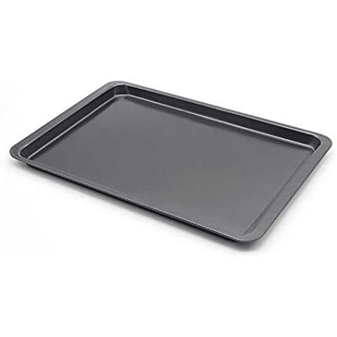 Antiaderente Bakeware 14,5x 25cm, per biscotti, grigio - Happy Elephant Tea