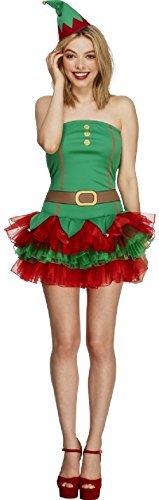 Elfen Sexy Outfit (Damen Ballettröckchen Elfen Weihnachten Weihnachten festlich sexy Kostüm Kleid Outfit - Grün,)