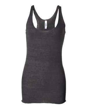 Trägershirt im Ringer-Stil - Farbe: Charcoal Heather - Größe: L (Damen Ringer Heather)