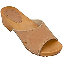 Pantoletten Sandalen Hausschuhe Gartenschuhe Damen braun Gr 37 38