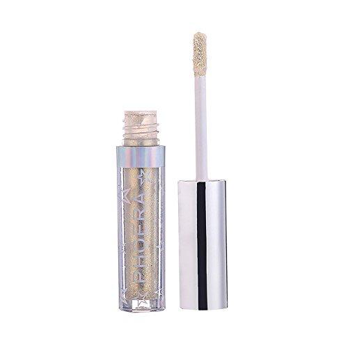 Scopri offerta per LEvifun liquido Ombretto Singoli Colori Perlato Gold Glitter polvere Smoky Eyeshadow Professionale Impermeabile Lunga Durata (12 Colori)