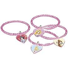 Partido Ênico de Disney Princesa y animales de plástico Pulseras Party Bolsa rellenos (paquete de 4)