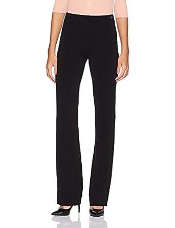 Allen Solly Women's Trouser Suit (AWTF1R00863_Black Solid_34)