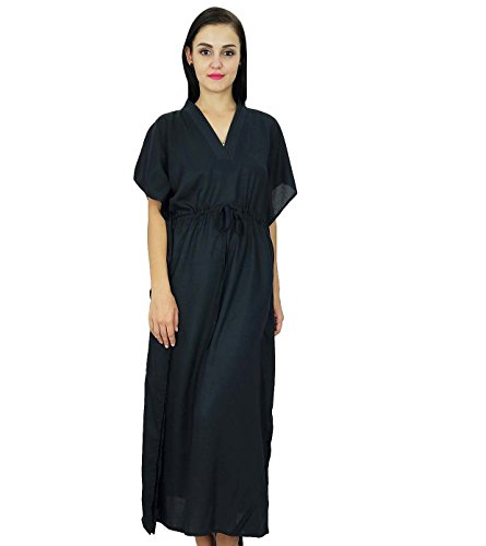bimba-women-long-solid-kaftan-soft-cotton-beach-cover-up-caftan-maxi