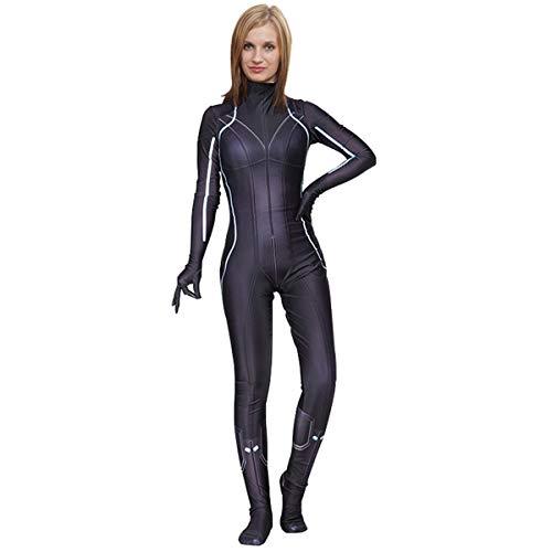 QQWE Kostüm der schwarzen Witwe, Cosplay-Kostüm für Damen, Zentai Christmas Halloween Bodysuit Jumpsuits,Adult-S (Kostüm Der Schwarzen Witwe)