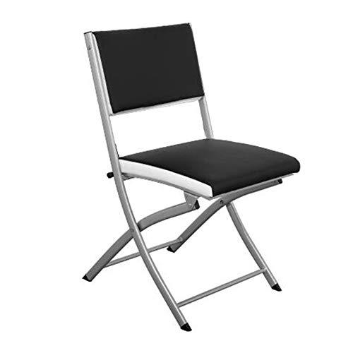 QIDI Chaise Pliante, Chaise de Formation, Chaise d'ordinateur, Chaise de Bureau, Facile à Transporter, Super portante, transportable, Espace de réunion ménager (Couleur : Noir)