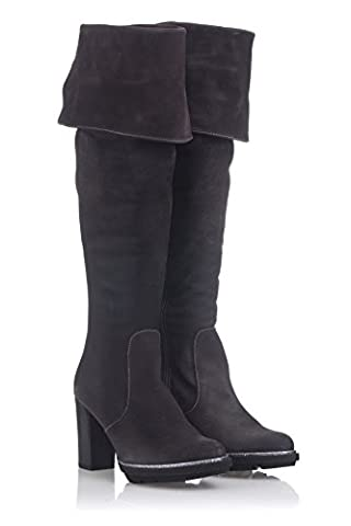 Laura Moretti Musketeer High Boot Above The Knee And Sole Heeled Platform, Bottes de moto femme