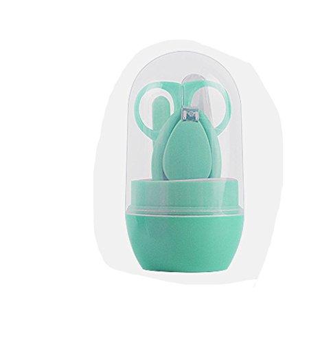 LPWORD Baby Grooming Kit, Sicherheits Baby Nagelknipser Set Enthält Nagelknipser, Sicherheitsschere, Nasenpinzette und Nagelfeile Für Neugeborene, Babys, Kleinkinder, Kleinkinder und Kinder,Green