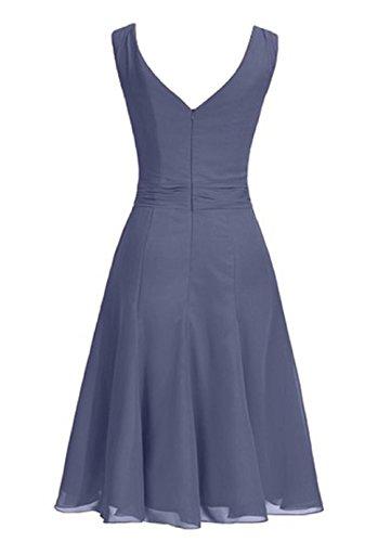 Dresstells, robe courte de demoiselle d'honneur mousseline col carré Menthe