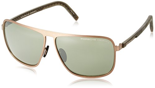 Porsche design sonnenbrille p8641 d 62 12 140 occhiali da sole, marrone (brown), 62.0 uomo