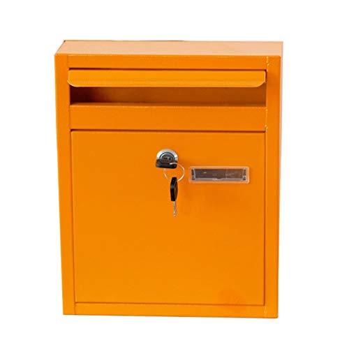 Hzpxsb Briefkasten-Postfach-Pfosten-Behälter brachte regendichten Buchstaben-Kasten-Eisen im Freien an - Buchstaben Freien Im Board