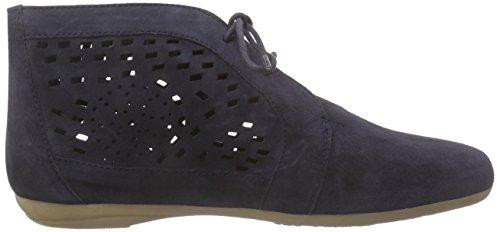 Marc Shoes Janine, Bottes type Desert Boots non doublées - Hauteur à mi-mollet femme Bleu - Blau (marine 760)