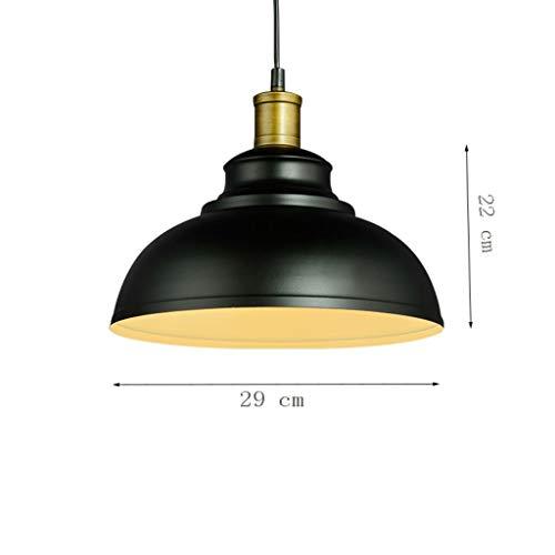MJK Pendelleuchten, Retro Metal Dome Kronleuchter, industrielle Vintage Bowl Decke montiert Pendelleuchte Lampenschirm Minimalismus Antik Eisen Schmiedeeisen hängende Leuchte für Büro Korridor Schlaf -