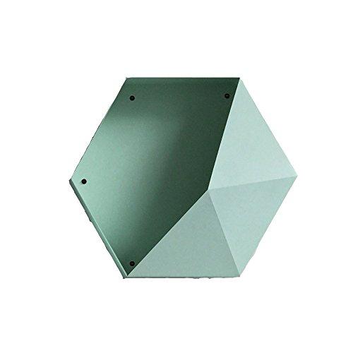 Étagères murales décoratives géométriques noires Hexa (Color : Green)
