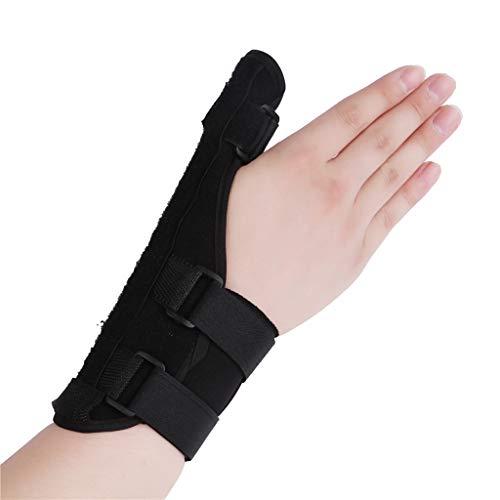 Fingerschiene für Arthritis, verstellbarer Befestigungsgurt mit eingebautem Aluminium Geeignet für Arthritis Sehnenentzündung Karpaltunnel Schmerzlinderung,Black,L -