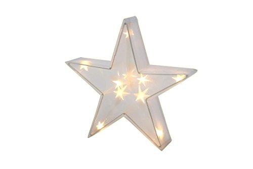 Leuchtstern Hologramm 35 cm 16 LED 3D Deko Stern Beleuchtung