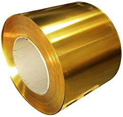 Generic Brass Metal Thin Sheet Foil Plate 0.02 X 100 X 1000 Mm