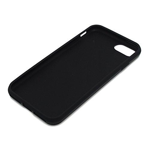 iPhone 7 Plus Case, DeroTeno Super Slim Smooth TPU Case for Apple iPhone 7 Plus 5.5 inch, Grand Black