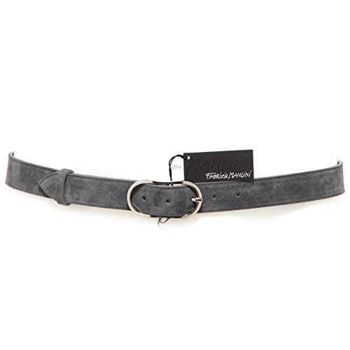 8516R cintura uomo FABRIZIO MANCINI suede grey grigio belt men without box [100 CM]