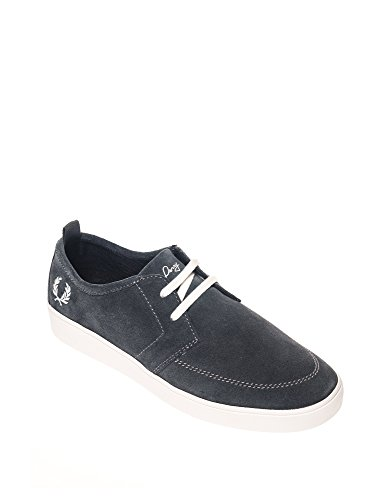 Fred Perry Shields Suede Charcoal Grau