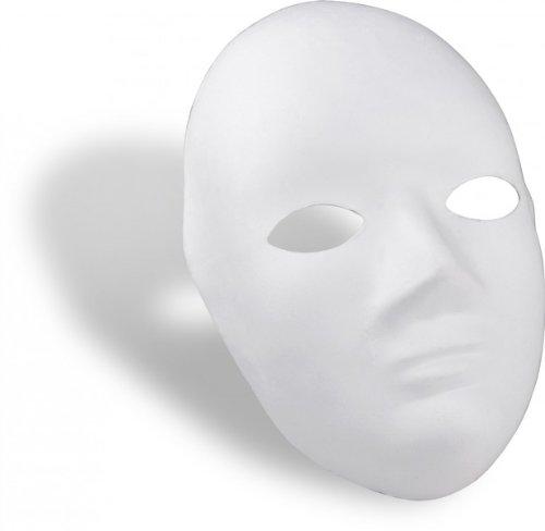 Maske blanko weiß zum Bemalen (Pappmaché Maske)