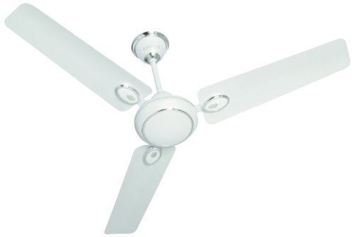 Havells Fusion 600mm Ceiling Fan (Pearl White and Silver) at amazon