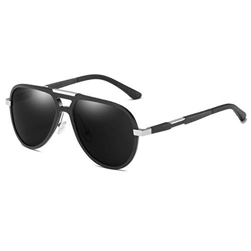 YLNJYJ Sonnenbrillen Polarisierte Sonnenbrille Männer Metall Vintage Pilot Aluminium Magnesium Sonnenbrille Uv400 Hohe Qualität Fahren Zonnebril