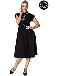 47c8216dc5f Banned Model Face Plus Size Longer Dress - Black or White
