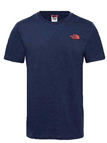 THE NORTH FACE Herren Simple Dome T-Shirt, Urban Navy/Fiery Red, S -
