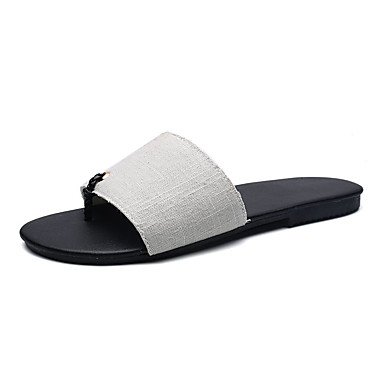 Slippers & amp da uomo; Estate Comfort Denim Casual Sandali Grigio Nero sandali US9.5 / EU42 / UK8.5 / CN43