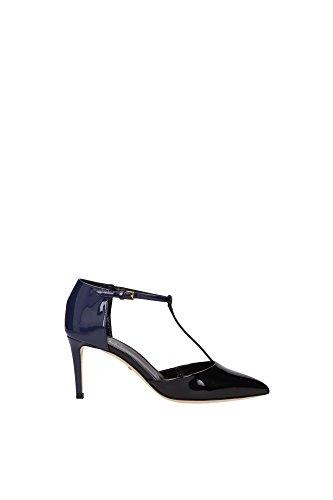 Sandali Gucci Donna Vernice Nero e Blu Mare 358219BNCS01072 Nero 41EU